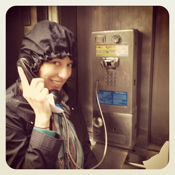 This is called a pay phone. Used one today to call my mom from #NYC! #Sandy