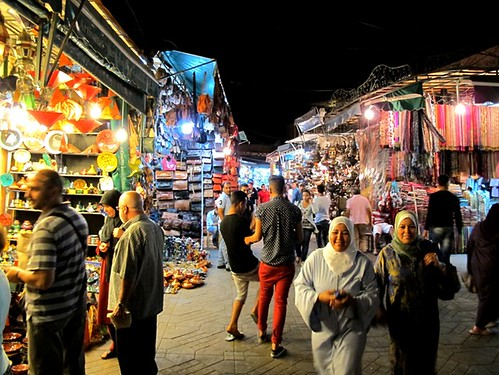 Tom's snapshot of a market in Morocco