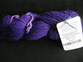 "Tuckerwood Farm Bailey's Twinkle Toe yarn, ""Black Orchid"""