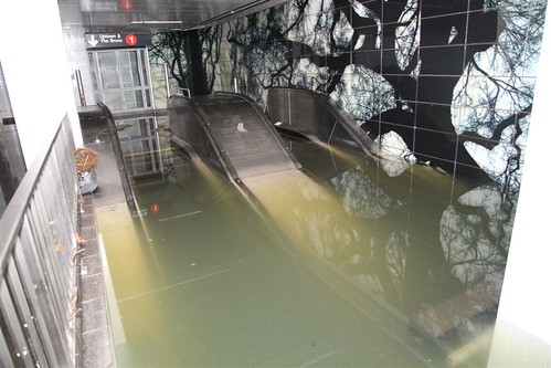 Escalator under Water @ South Ferry