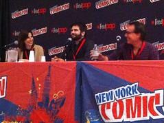 Alessandra Balzer, Ned Vizzini, and Chris Columbus at NY Comic Con 2012