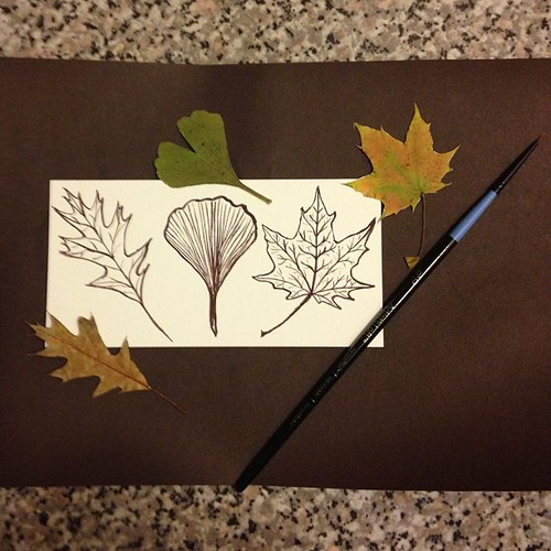 #leaves #art #aedm2012 I love to sketch use watercolors
