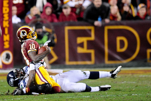 on robert griffin III's knee and the grass at fedex field