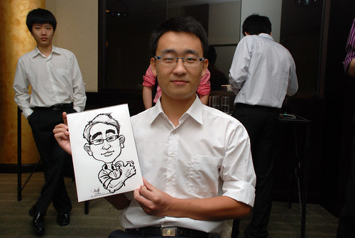 caricature live sketching for NUS - 2