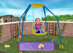 backyard, outdoor play equipment, play, leisure, swing, public space, playground,