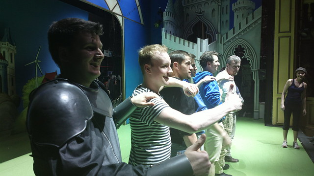 Rehearsing with the SPAMALOT gang :)
