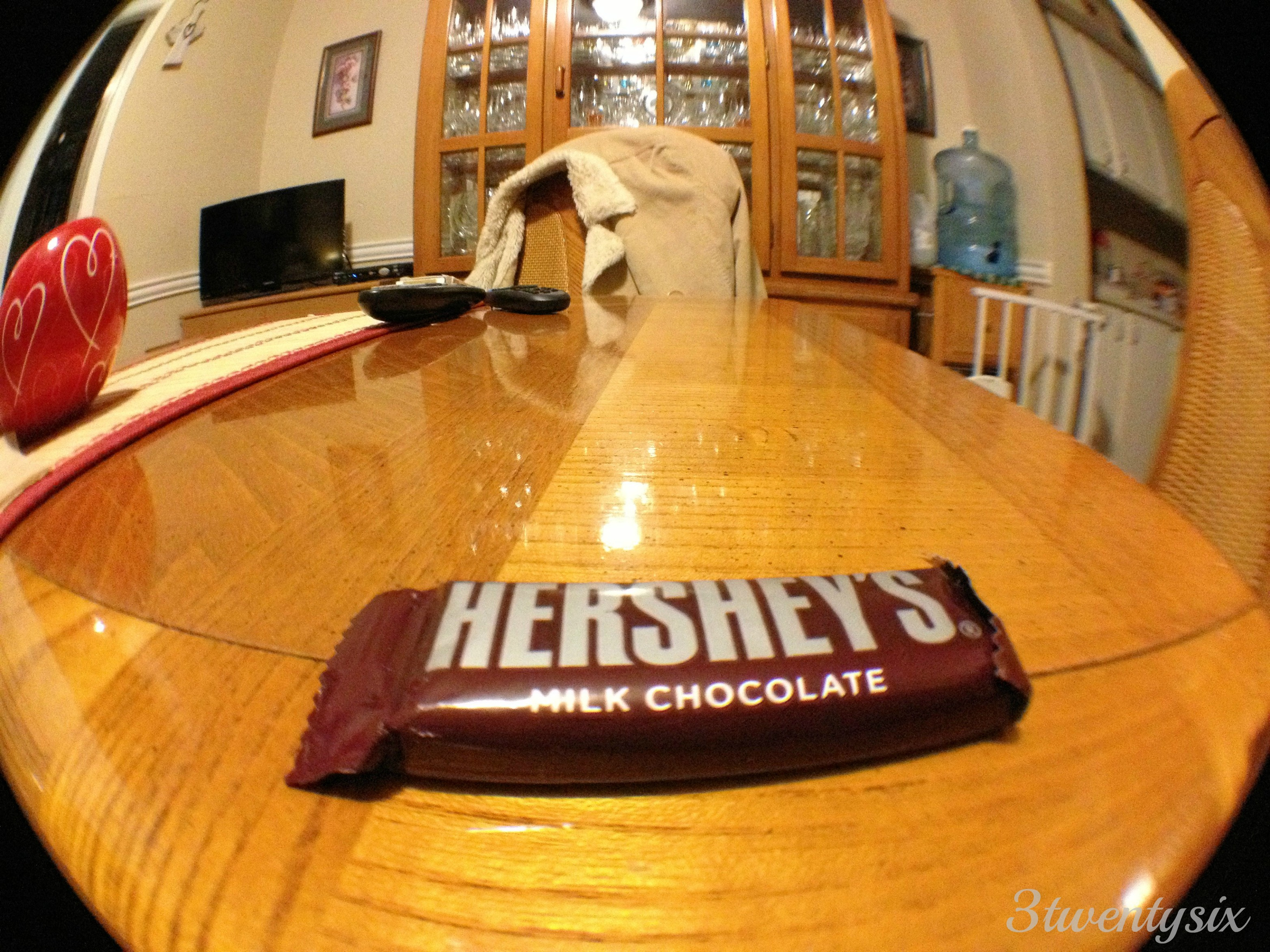 Itty bitty Hershey's looking huge