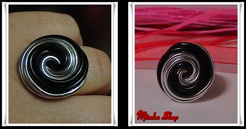 Anillo Aluminio Bicolor Silver y Negro
