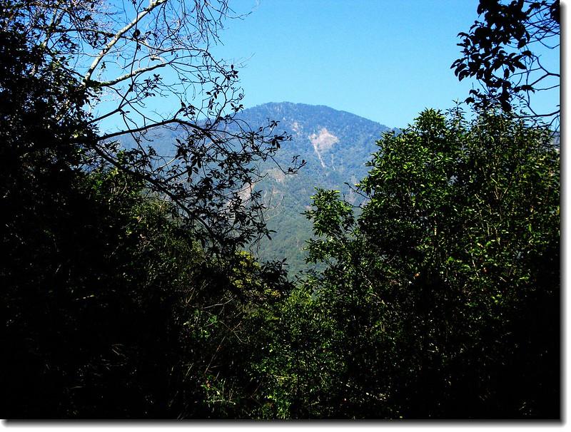 登山途中望白姑南山