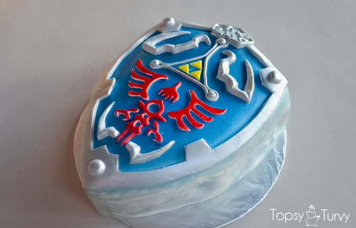 Legend Of Zelda Hylian Shield Sweet 16 Birthday Cake
