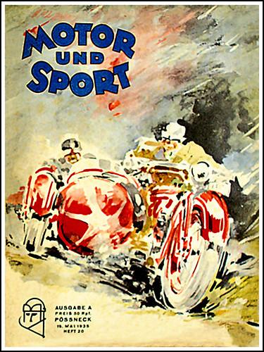 1935 Motor Und Sport Magazine -Sidecar Racing by bullittmcqueen