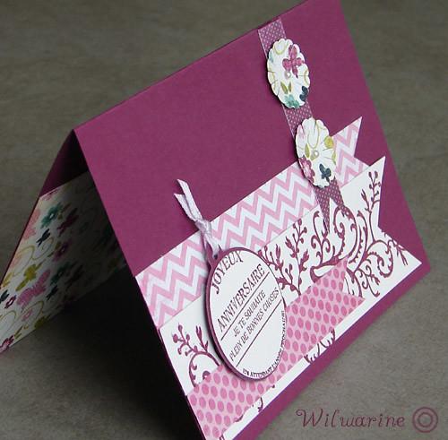 carte annif femme