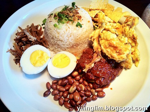 Nasi Lemak 2.0 with soft shell crab