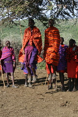 Maasai Warrior Leaping