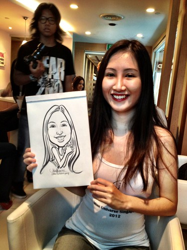 caricature live sketching for Orchard Scotts Dental for Miss Universe Singapore - 12