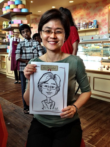 caricature live sketching for Au Chocolat Opening - Day 2 - 16