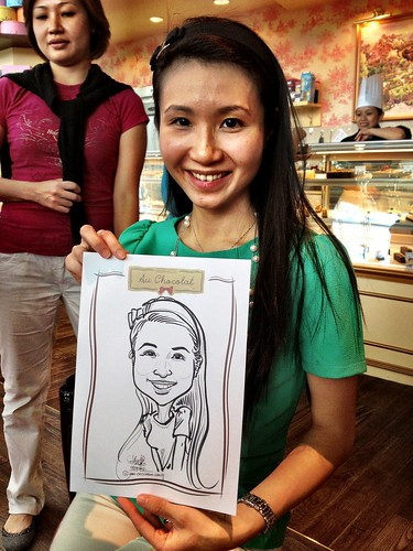 caricature live sketching for Au Chocolat Opening - Day 2 - 9