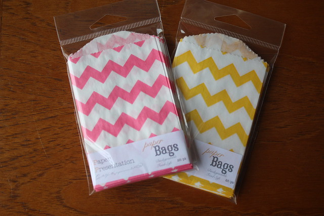 Chevron mini bags and stamp