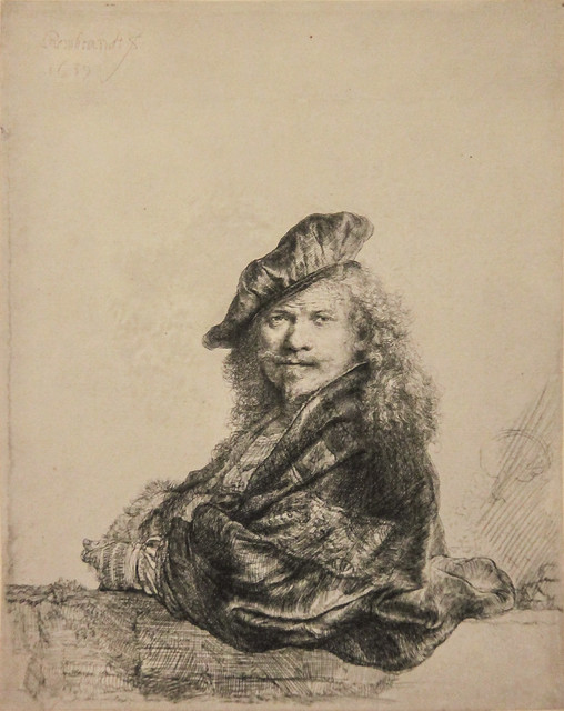 Self-portrait, Leaning on a Window Sill - 1639