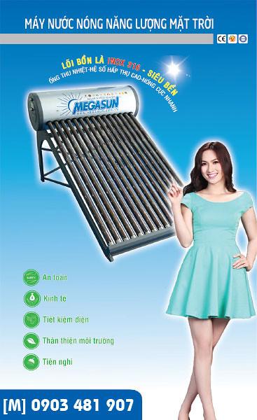 Máy nước nóng năng lượng mặt trời cao cấp MEGASUN KAS-SUPER - Đẳng cấp đến từng chi tiết