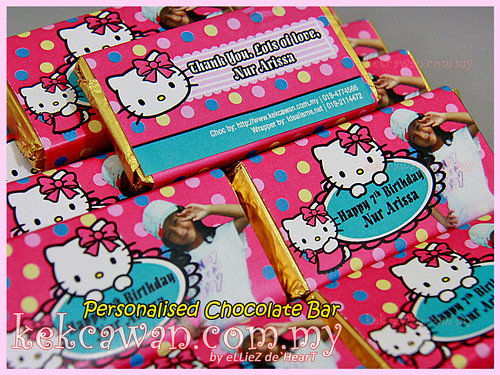 Personalised Choc Bar - Hello Kitty