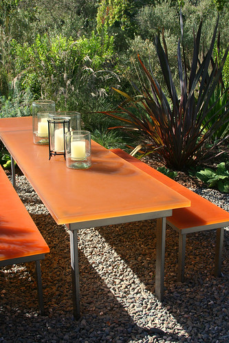 resin table and bench