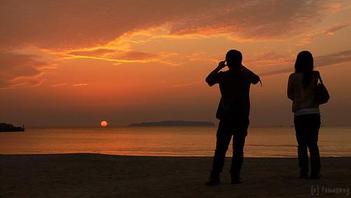 sunset beach japan lumix 夕陽 lx1 fukuoka 夕日 海岸 夕焼け 福岡 fukuma dmclx1 fukutsu 福間 福津 福間海岸