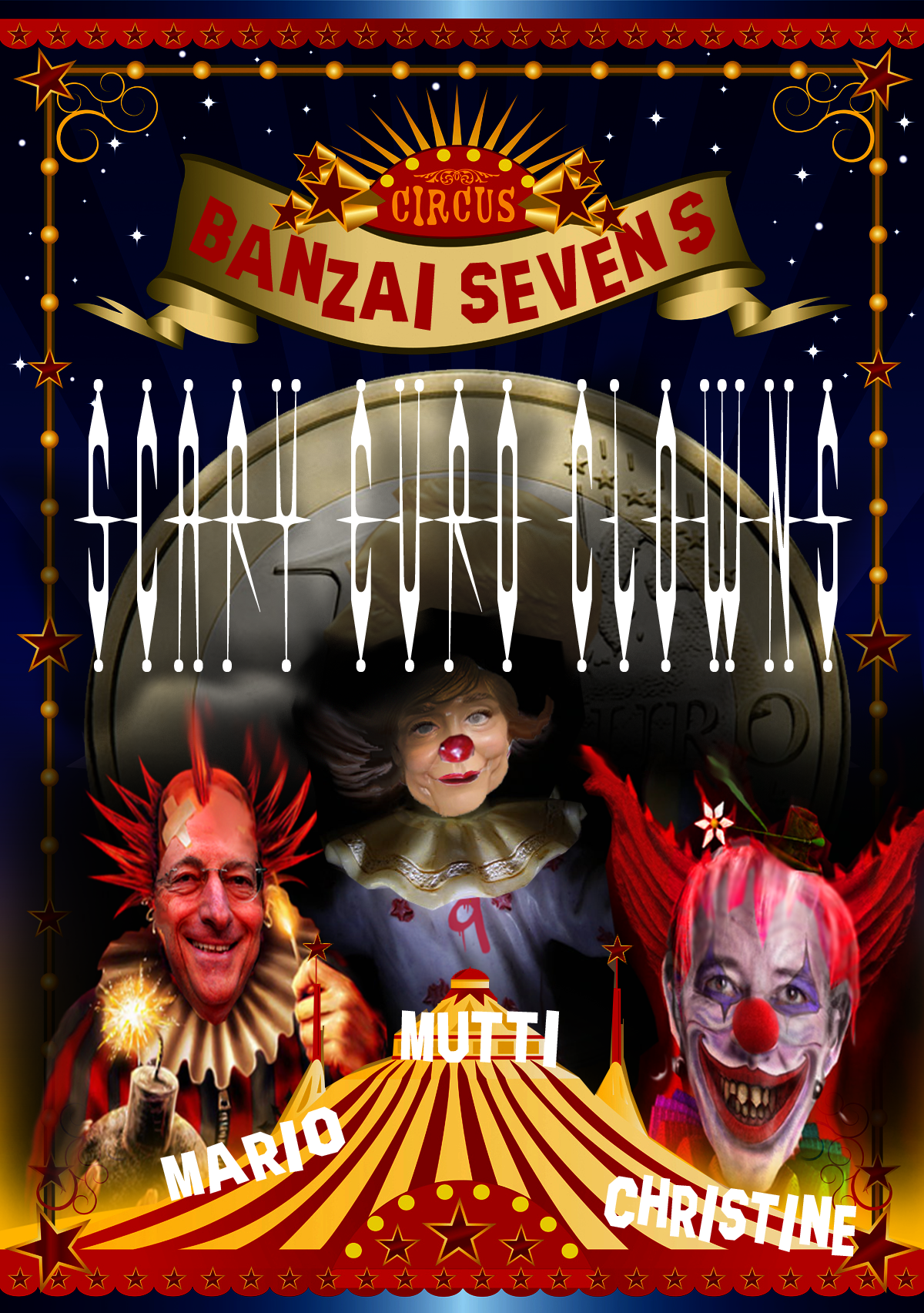 SCARY EURO CLOWN POSTER