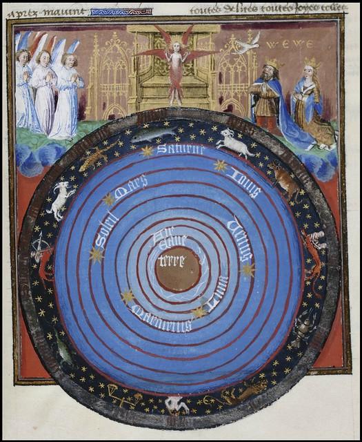 15th century illuminated manuscript miniature: Henri de Ferrières, Les Livres du roy Modus et de la royne Ratio 346