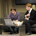 Michael Goldsmith and Grant MacDermott in the Huntington's production of Christopher Shinn's edgy political thriller NOW OR LATER, playing October 12 - November 10, 2012 at the South End / Calderwood Pavilion at the BCA. Photo: Paul Marotta