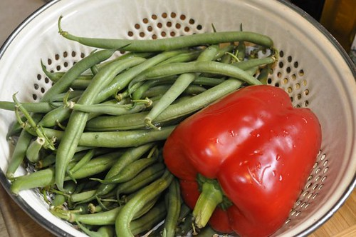 green beans with crispy sage 1