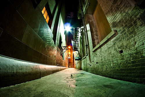 "Alley in Downtown ""security light on"" 