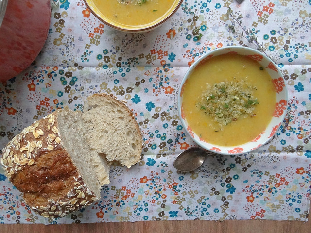 creamy potato carrot leek soup {gf}