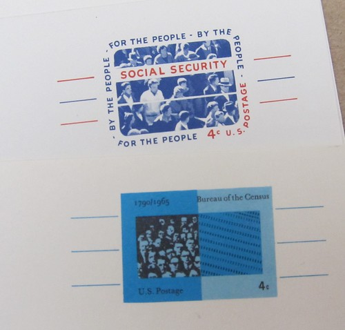 USPS Social Security & Census Bureau Postal Cards