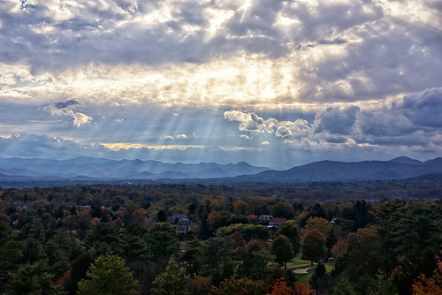 sunset mountains landscape asheville vista sunrays groveparkinn wnc godsrays public2012