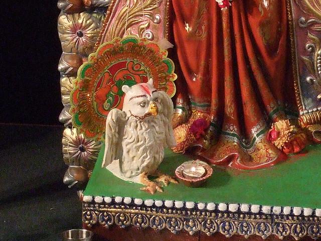 durga puja owl lakshmi