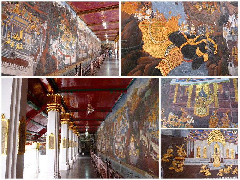 Ramayana murals at Bangkok's Grand Palace