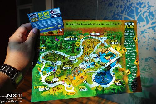 WILD LIFE Sydney Zoo map
