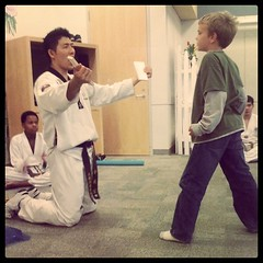 tae kwon do at library