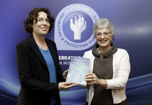 Book Author Judy Walsh with Senator Katherine Zappone 23.10.12