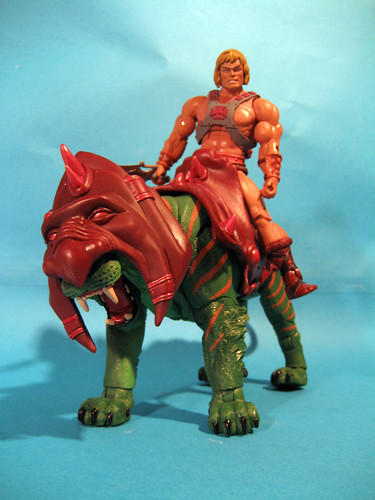 He-Man riding Battle Cat