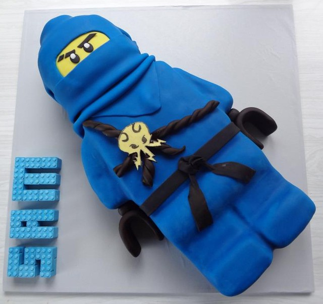Cake Images Jay : Blue Ninjago minifigure (jay) cake Explore Wratt s ...