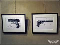 The Establishing Shot: EVERYTHING OR NOTHING - 50 YEARS OF JAMES BOND EXHIBITION AT MOUNT STREET GALLERIES - JAMES HART DYKE  GLOCK & WALTHER PPK by Craig Grobler