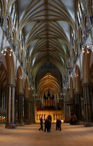 Nave of Lincoln Cathedral, England