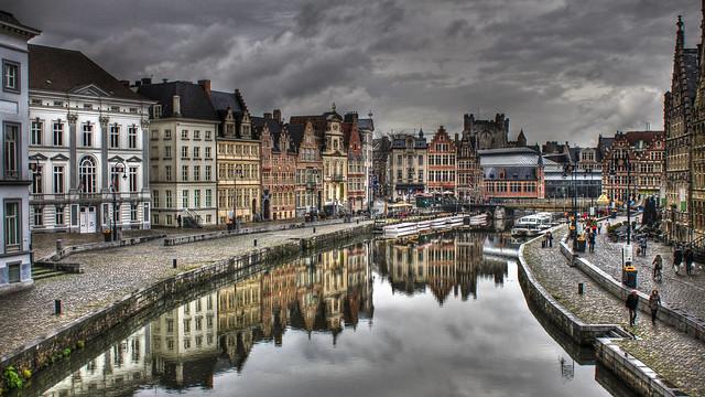 0304 - Belgium, Ghent, Graslei HDR
