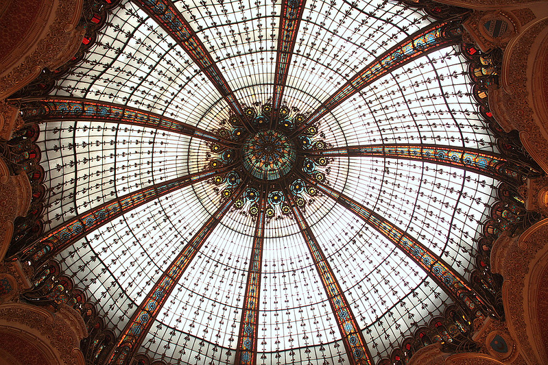 The grand belle epoque dome of Galeries Lafayette
