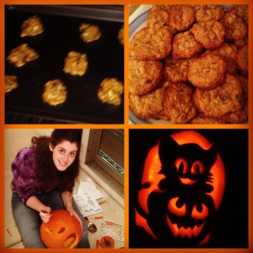 Oct 26, 2012 - made Tweety cookies and carved a pumpkin!