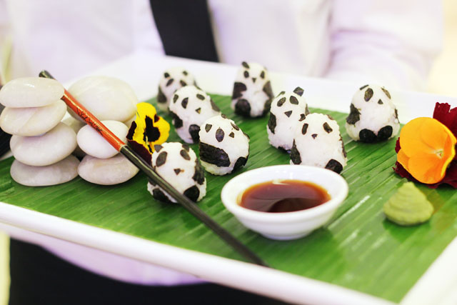 Rob Pruitt Jimmy Choo panda sushi
