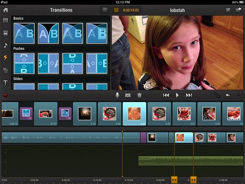 Editing layout in Pinnacle Studio for iPad