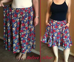 Floral Ruffled Skirt Before & After